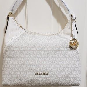 Mk Aria Signature Shoulder Bag